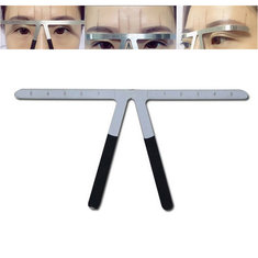 Permanent Makeup Tattoo Eyebrow Ruler Measure Tool Metal Eyebrow Balance Ruler Shaping Stencil Tools