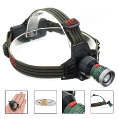 Elfeland 2000LM 3modes Adjustable Zoomable LED Headlamp 2x18650