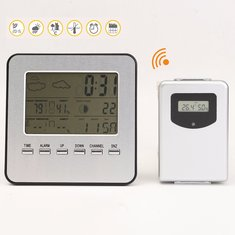 Wireless LCD Display Weather Station Thermometer Clock Humidity Temperature Tester