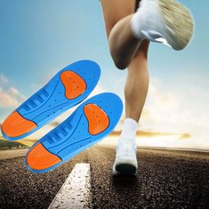 Male Female Air Cushion Running Foot Support Sport Shoes Insoles Pain Relief Pads