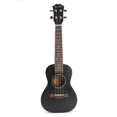 24 Inch Concert Ukulele Hawaii Guitar Sapele Top Black