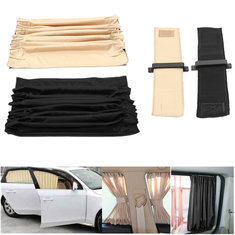 2pcs 70cm Mesh L Auto Rear Valance UV Sunshade Drape Visor Car Window Curtain