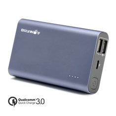 [Qualcomm Certified] BlitzWolf® BW-P3 9000mAh 18W QC3.0 Dual USB Port Power Bank With Power3S Tech