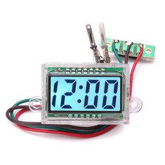 38x26x17mm DC 12V Waterproof Digital LCD Dashboard Automatic Clock For DIY