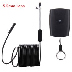 1200P 5.5mm Lens IP67 2MP 6 LED Lights Waterproof Wireless Mini Camera Endoscope for Android System