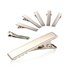 50Pcs Metal Silver Alligator Prong Hair Clips AAccessorie.s