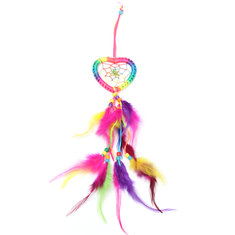 Dream Catcher-Heart-Shaped with Feathers Wall or Car Hanging Decoration Ornament