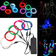 ARILUX® Battery Powered 5PCS 1M Multicolor DIY Glow EL Wire Strip Light for Halloween Christmas DC3V