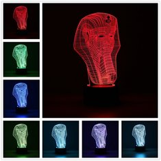 3D Egypt Pyramid Pharaoh 7 Color Changing Touch Switch LED Desk Night Light Lamp
