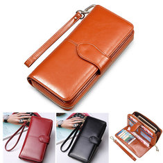 Floveme Fashion Woman PU Zipper Wallet Bag Multifunctional Purse For Smartphone Iphone Samsung