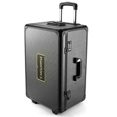 Realacc Aluminum Trolley Case Pull Rod Hand Traveling Box Case for DJI Phantom 3 Professional Advanced