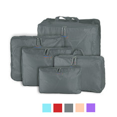 Honana HN-TB11 5pcs Travel Storage Bags Nylon Luggage Packing Organizer Suitcase Zipper Bags