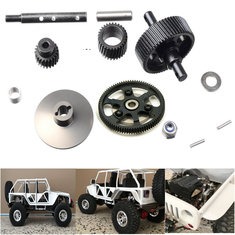 1:10 Scale Heavy Duty Steel Transmission Metal Gear Set Upgrade Accessories For Axial Racing SCX10