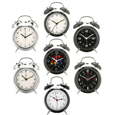 Digoo DG-TBK 4 Inches Twin Bell Clock Series Retro Metal Style Twin Bell Clock Bedroom Decoration