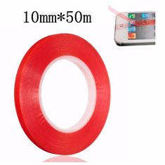 10 mm Red Film Tape Strong Acrylic Adhesive PET  Clear Double Sided  No Trace for Phone LCD Screen