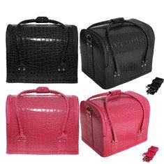 Croc Four Level Makeup Vanity Case Nail Art Cosmetic Storage Box