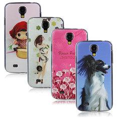 Dog Doll Female Flower Matte Hard Case For Samsung Galaxy S4 i9500
