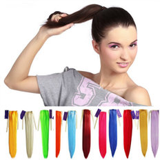 Colorful Long Straight Ponytail Extension Wig