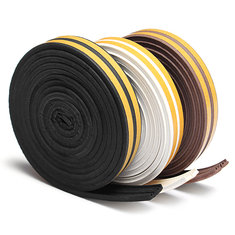 5M Draught Self Adhesive E Type Window Door Excluder Rubber Seal Strip