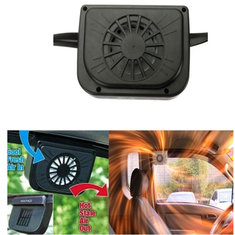 Auto Car Fan Air Vent Cooler With Rubber Stripping Solar Power