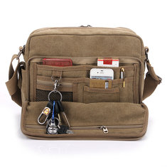 Men's Multifunction Canvas One Shoulder Business Casual Bag