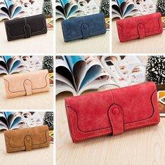 Women Ladies Retro Long Matte Wallets Purse Clutch Bags