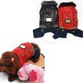 Warm Jacket Jeans Winter Thickening Wind-Proof Pet Dog Coat Jumpsuit