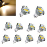 10X GU10 6.4W 16 SMD 5630 LED Warm White Spot Bulb 85-265V