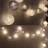 Original KCASA 3.3M 20LED Grey Cotton Ball String Lights LED Fairy Lights for Festival Christmas Halloween Party Wedding Decoration Battery Powerd