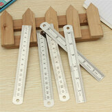 5pcs  15cm Double Side Stainless Steel Measuring Straight Ruler Metric Silver