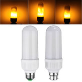 E27 B22 5W SMD2835 1800K 99LEDs Yellow Flickering Flame Corn Light Bulb AC85-265V