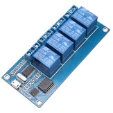 USB Relay Controller 5V 4 Channel Relay Module Relay Control Panel With Indicator 4 Way Relay Output USB Interface