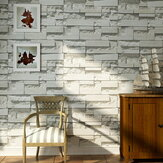 Brick Pattern 3D Textured Non-woven Wallpaper Sticker Background Home Decoration