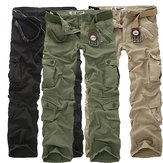 ChArmkpR Mens Plus Size Outdoor Military Casual Multi Pockets Cotton Sport Cargo Pants