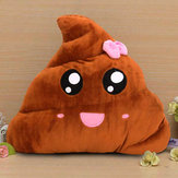 Funny Emoji Poo Shape Bowknot Stuffed Throw Pillow Bed Sofa Chair Cotton Cushion