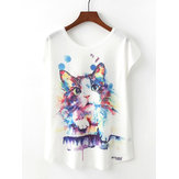 Original Cat Printed T-shirt
