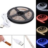 Original 4M Pure White Warm White Red Blue 2835 SMD Waterproof USB LED Strip Backlight for Home DC5V