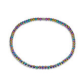 Colorful Fashion Magnet Stone High Polished Beaded Necklace Healthy Healing Jewelry Unisex