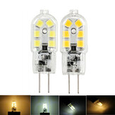 Original Dimmable G4 2W SMD2835 12LEDs Warm White Pure White Light Bulb DC12V