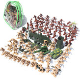 Original 105 unids / set Medieval Knights Warrior Model Toy Soldiers figura modelos Kid regalo