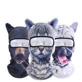 Unisex Motorcycle Face Mask 3D Animal Ear Balaclava Neck Hood For Halloween Christmas Party Skiing