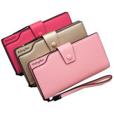Women 11 Credit Card Holders 6 inches Cellphone PU Leather Wallet Clutch Wallet