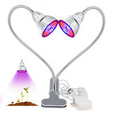 Original 60W Dual Head Plants Led Grow Light Bulb Clip Desk Ajustable Growing Lámpara Para Jardín Interior Bonsai