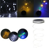 Original Solar Powered 1M 10LEDs Mason Jar Lid Insert Fairy String Light for Garden Christmas Party