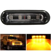 4 LED Waterproof Car Truck Strobe Flash Warning Light Side Maker Light Amber DC 12 24V
