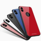Bakeey™ Tempered Glass Mirror Back TPU Frame Case for iPhone X 7/8 7Plus/8Plus 6/6s Plus