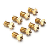 Geekcreit® 8Pcs Four Sizes V6 Brass Nozzle For 1.75mm Filament Copper Nozzle Extruder Print Head 3D Printer Accessories
