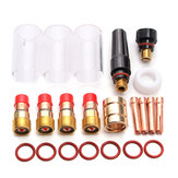 Original 22Pcs TIG Welding Stubby Gas Lente Kit para WP-17/18/26 Series Antorchas 2.4mm 3/32