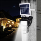 Original Solar Powered PIR Motion Sensor LED Flood Light Remote Control Waterproof Security Outdoor Wall Lamp