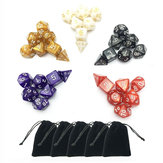 Original 35pcs 5 Sets Polyhedral Dice 5 Colors D&D RPG With 5 bags